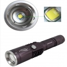 ZHISHUNJIA NHX-Y95 900lm a 3 modes blanc zoom lampe de poche LED - gris (1 x 18650 / 3 x AAA)