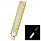 L-05 2.5W 100lm 6000K 8-LED White Touch Switch + Dimming USB Night Lamp - Golden Yellow + Silver