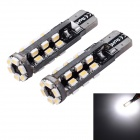 T10 3W 150lm 4000K 30-SMD 1206 LED Warm White Light Car Breite Lampe (12V / 2 PCS)