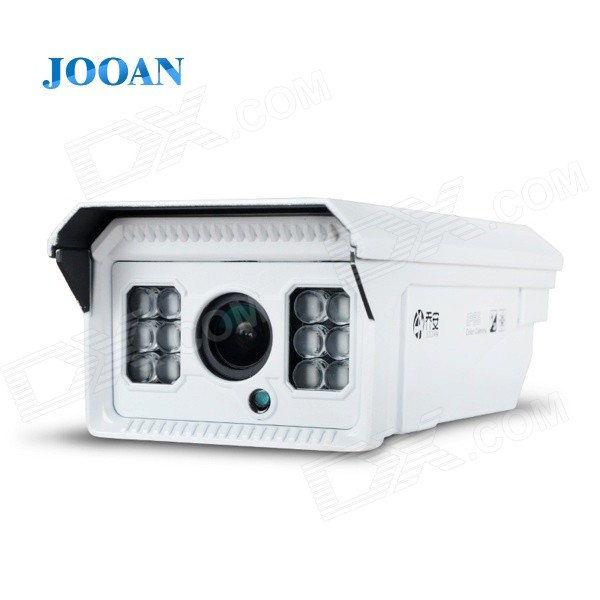 JOOAN 1/2 CMOS 960P 1.3MP Digital Auto Zoom IP Camera w/ 12-IR-LED / Mobile Remote Monitoring dc v100 15mp cmos digital camera w 5x optical zoom 4x digital zoom sd slot pink 2 7 tft