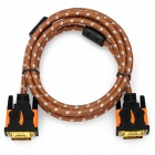 Yellow Knife YK019 DVI-D 24+1pin HD DVI Cable w/ Golden-Plated Connector - Brown + White (5m)