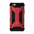 """GeekRover Armor Hybrid Metal + Silicone Case for IPHONE 6 4.7"""" - Dark Red + Black"""