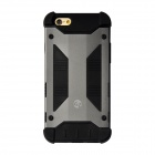"GeekRover Armor Hybrid Metal + Silicone Case for IPHONE 6 4.7"" - Deep Gray + Black"