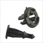 Car Plastic Rivets Fender Fasteners Clip - Black (100 PCS)
