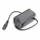 JX-1 Portable 4V 4400mAh 4-18650 recargables Li-ion Battery Pack + cargador - negro