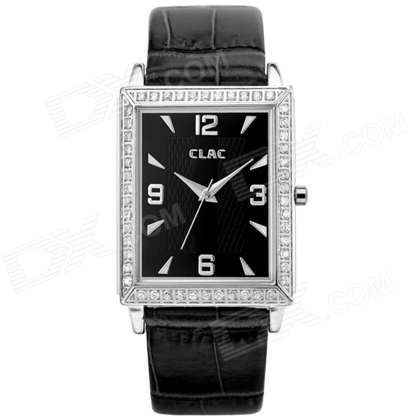 Clerc A8004F Mens Fashionable Leather Band Analog Quartz Wrist Watch - Black + Silver (1 x 626) - DXLeather Strap Watches<br>Color custom10001 Model A8004F Quantity 1 Piece Shade Of Color Black Wristband Material Leather Casing Material 316 stainless steel Gender Men Suitable for Adults Style Wrist Watch Type Fashion watches Display Analog Backlight No Movement Quartz Display Format 12 hour format Water Resistant Water Resistant 5 ATM or 50 m Dial Diameter 2.8 cm Dial Thickness 1 cm Band Width 2 cm Wristband Length 22 cm Battery 1 x 626 (included) Packing List 1 x Watch 1 x Gift box<br>
