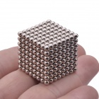 3mm Magnetic Beads Cube Puzzle Intelligence Toy - Silver (512 PCS)