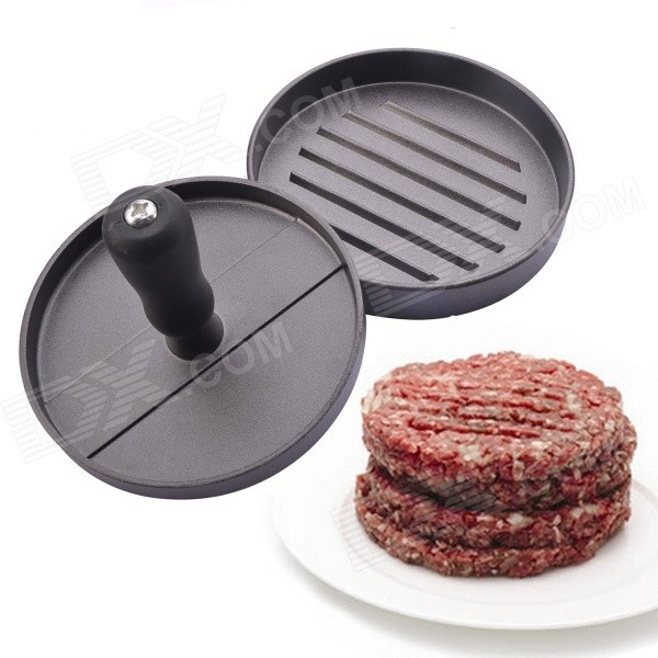 Kitchen Hamburger Press Meat Patty Mold Maker - Silvery Grey