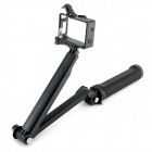 TOZ GP254B 3-in-1 Adjustable Bracket Hand Grip Arm w/ Mount Holder for GoPro Hero 4 / 3+ / 3 - Black