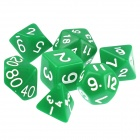 ENKAY Table Game 15-20mm D4 D6 D8 D10 D12 D20 Dice for Dungeons & Dragons - Green