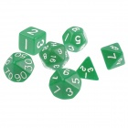 Table Game 15-20mm D4 D6 D8 Dice for Dungeons & Dragons - Green