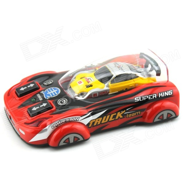 YDL-8805-1 Mini 40MHz 2-CH Remote Control R/C Racing Car - Yellow + Red + Multicolor (2 x AA)