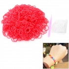 DIY Educational Silicone Rubber Bands for Children - White + Red (600 PCS)