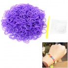 DIY Educational Silicone Rubber Bands for Children - White + Purple (600 PCS)