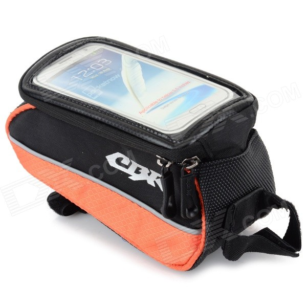 CBR Outdoor Cycling Bike Touch Screen Top Tube Bag - Black + Orange зажигалки pierre cardin mfh 417 03