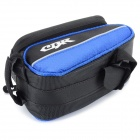 CBR Outdoor Ciclismo bicicleta Toque Bag Tela Top Tube - preto + azul