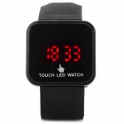 Fashion Silicone Band LED Touch Screen Digital Wrist Watch - Black (1 x CR2032)