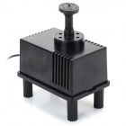 2W Square Style Solar Powered Panel Water Pump - Black