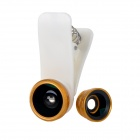 Universal 3-in-1 0.67X Wide Angle / Macro + 180 Degree Fisheye Clip Lens Camera Set for Cellphone