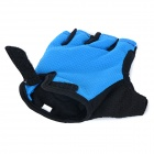 NUCKILY PC03 respirável Wearable Half-dedo Outdoor Ciclismo Luvas - Azul (L / Par)