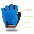 NUCKILY PC03 Breathable Wearable Half-Finger Outdoor Cycling Gloves - Blue (L / Pair)