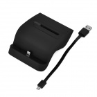 2-em-1 Cell Phone Battery Charging Base Dock para Samsung Galaxy Note 4 - Black