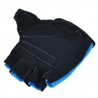 NUCKILY PC03 Breathable Wearable Half-Finger Outdoor Cycling Gloves - Blue (XL / Pair)