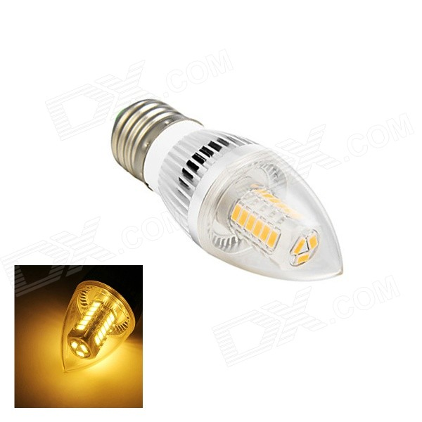 E27 5W 260lm 3000K 27-SMD 5730 LED Warm White Light Lamp Bulb - White (AC 110~220V)