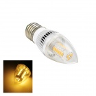E27 5W LED Warm White Light Bulb - White (AC 110~220V)