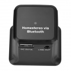 Bluetooth V2.1 Wireless Music Receiver w / USB Charging Port - Musta (AC 100 ~ 240 / US Tulpat)