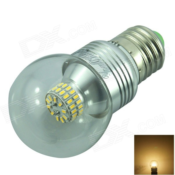 YouOKLight E27 5W 50-3014 SMD LED 420LM 3000K Warm White Light Bulb - Silver (AC 85-265V) honsco e27 5w 400lm 3000k 84 smd 2835 led warm white light bulb white silver ac 85 265v