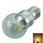 YouOKLight E27 5W LED Warm White Globe Bulb - Silver (AC 85-265V)