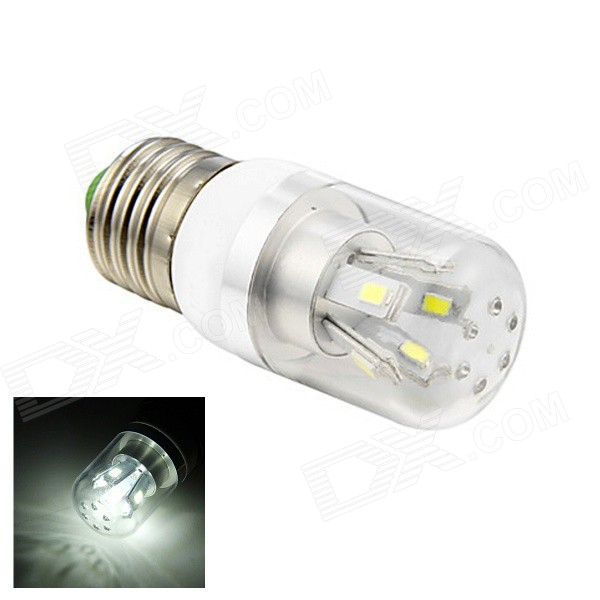 E27 4W 220lm 6500K 10-SMD 5730 LED White Light Lamp Bulb - White (AC 110~220V)