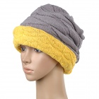 TOPCYCLING TOP011 Winter Double-Sided Wear Knit Wool Street Dance / Hip-Hop Warm Hat - Ginger + Grey