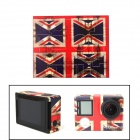 NEOPINE ST-4 UK Flag 108C Sticker for GoPro Hero 4 Silver Camera - Red + Blue