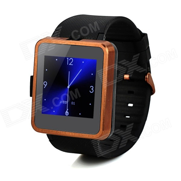 F1 MTK6260A 1.55 TFT GSM Smart Watch Phone w/ TF, Wi-Fi, Bluetooth - Black + Brown i5s multi function 1 8 tft screen gsm smart watch phone w fm bluetooth tf red