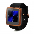 "F1 MTK6260A 1.55 ""TFT GSM Smart Watch Phone w / TF, Bluetooth - Schwarz + Braun"