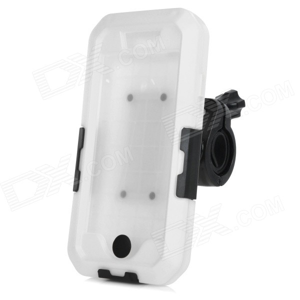 CK-169 Bike Handlebar Mounted Protective IPX5 Waterproof ABS + Silicone Case for IPHONE 6 - White
