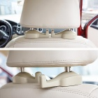 Criativa Conveniente Car Seat Chair Hanger Hook - Grey (Pair)