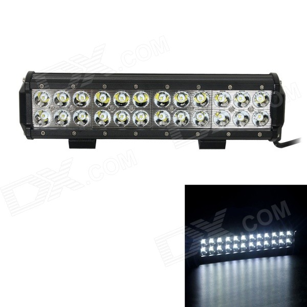 GULEEK 72W 5040lm 6000K 24-LED White Spot Light / Offroad Car Light Bar / Working Lamp