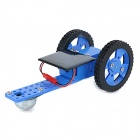 DIY Educational Assembled Solar-Powered Car Vehicle Toy for Children / Kids - Black + Blue