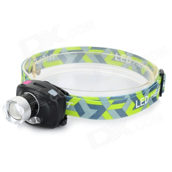 200lm 3-Mode Red / White Light Dimming LED Headlamp - Black (3 x AAA)