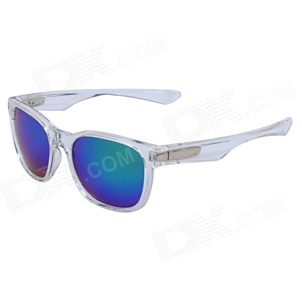 OREKA LS0069T356 PC Frame Blue REVO PC Lens UV400 Protection Sunglasses - Transparent