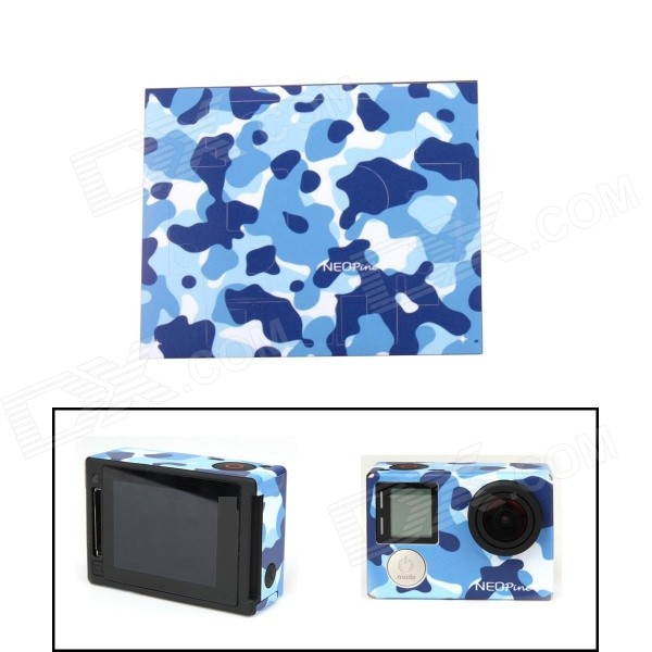 neopine-g-762-108c-sticker-for-gopro-hero-4-silver-camera-blue-camouflage