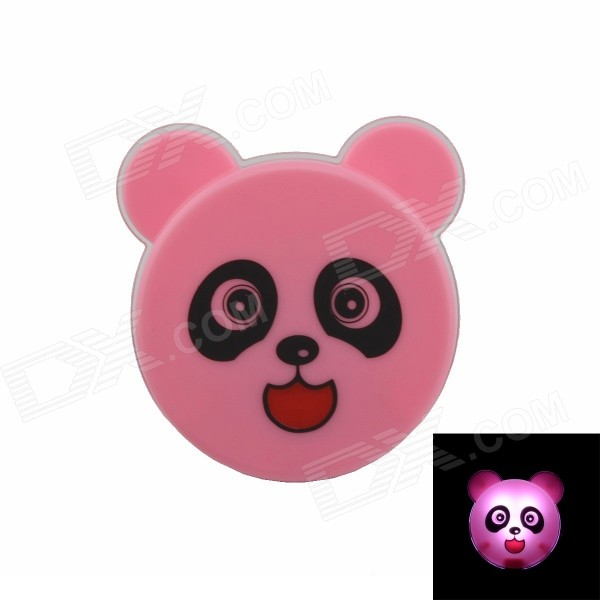 Cute Panda Style G4 0.1W 21lm Intelligent Light Control LED Night-light - Pink + Yellow (US Plug) intelligent light control camera dedicated 48w led light powerful led according to the license plate100w for roads light factory