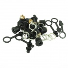 2.1mm-Pin Power Outlet With Waterproof Cap - Black (10PCS)