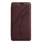 KALAIDENG Protective PU Leather Case Cover w/ Stand for Samsung Galaxy Note 4 - Dark Red