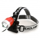 Ultrafire U-01 800lm 3-Mode White Light LED Bike Light Headlamp - Silver + Red (4 x 18650)