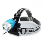 Ultrafire U-01 800lm 3-Mode White Light LED Bike Light Headlamp - Silver + Blue (4 x 18650)