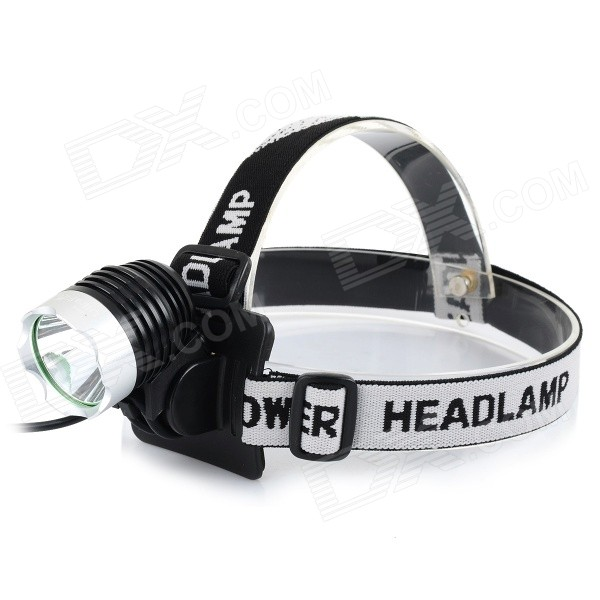Ultrafire U-01 800lm 3-Mode White Light LED Bike Light Headlamp - Black + Silver (4 x 18650)